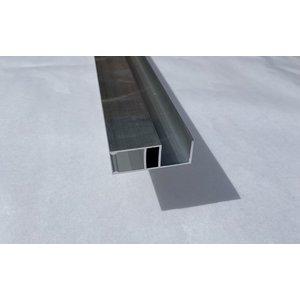 HU aluminium hoekprofiel voor verbinding van verticale platen 16mm