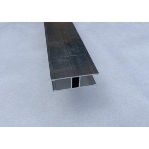 H aluminium profiel voor verbinding van verticale platen 16mm