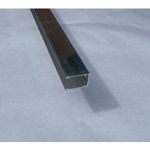 U aluminium profiel voor afsluiting van verticale platen 16mm