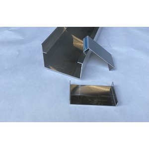 Aluminium goot G120A Brut