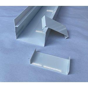 Aluminium goot G120A WIT ral 9010