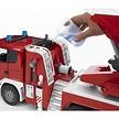 Camion de pompier+échelle montante,lance à incendie 1:16