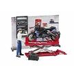 Bruder motorwerkplaats met Ducati Scrambler Cafe Racer motor en monteur 1:16