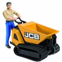 JCB Bruder JCB Dumpster HTD-5 met arbeider