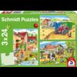 Puzzel Op de boerderij 3x24 stukjes van Schmidt Puzzles
