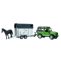 Land Rover Land Rover Defender, remorque à chevaux+1 cheval 1:16