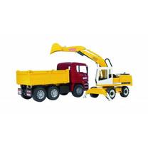 MAN MAN TGA camion de chantier et pelleteuse Liebherr 1:16