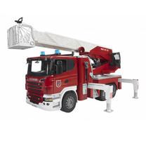 Scania Camion de pompier+échelle montante,lance à incendie 1:16