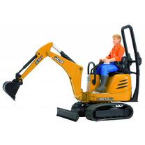 JCB Mini pelleteuse JCB 8010 CTS et homme de chantier 1:16