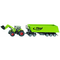 Claas Claas+chargeur frontal, Dolly, benne basculante 1:50