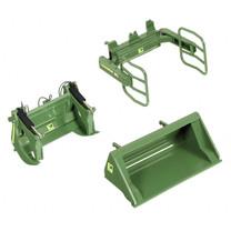 Wiking Accessoires pour chargeur frontal en vert JD 1:32