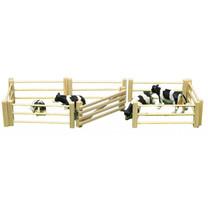Kids Globe Barrière en bois 6 pièces, barrière incluse, 1:32