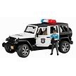 Bruder Jeep Wrangler Unlimited Rubicon politieauto met politieman 1:16