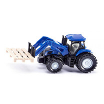 New Holland New Holland met palletvork en pallet van Siku
