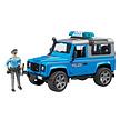 Land Rover Defender politie auto met agent van Bruder