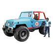Jeep Cross Country racer blauw van Bruder