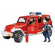 Bruder Jeep Wrangler brandweerauto met brandweerman