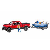 Dodge RAM Bruder RAM 2500 Power wagon, trailer, jetski en bestuurder 1:16