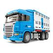 Bruder Scania veetransportwagen met koe