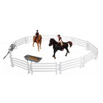 Kids Globe Kids Globe 2 paarden, ruiters en accessoire
