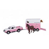Mitsubishi Kids Globe Mitsubishi paarde trailer en paarden 1:32
