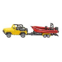 Jeep Siku Jeep met boot ± 1:87