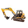 JCB midi excavator (modderig) 1:32 van Britains