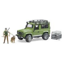 Land Rover Land Rover Defender Station Wagon met boswachter en hond
