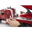 Bruder Mack Granite brandweerauto ladder en waterpomp