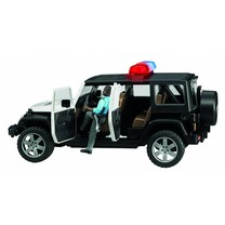 Jeep Bruder Jeep Wrangler Unlimited Rubicon politie auto met agent