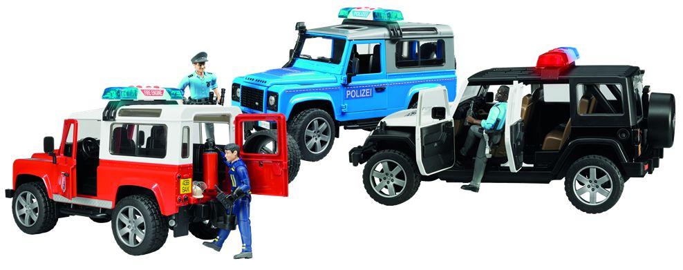 Nieuw speelgoed: de Bruder politie- en brandweerauto's
