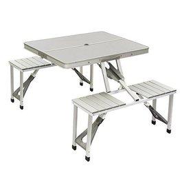 Bo-Camp Bo-Camp - Family tafel - Aluminium - Inklapbaar - Grijs