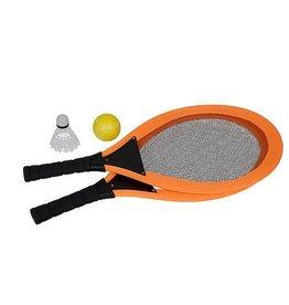 CampingMeister Racket set - Met bal & shuttle - Assorti