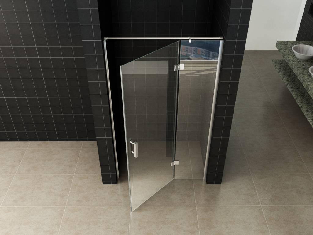 Glazen Douchedeur 100 Cm.Rheiner Enter St Douchedeur Nisdeur 100 60 40 X 200 Helder Glas