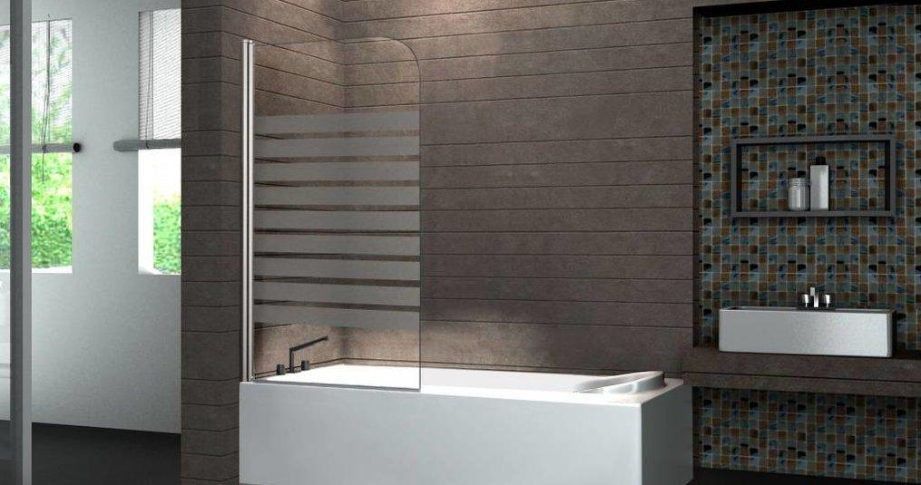 Een glazen douchewand, geschikt voor elke badkamer