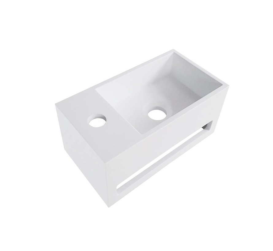 Julia fontein Solid Surface 35 x 20 x 16 cm wit links
