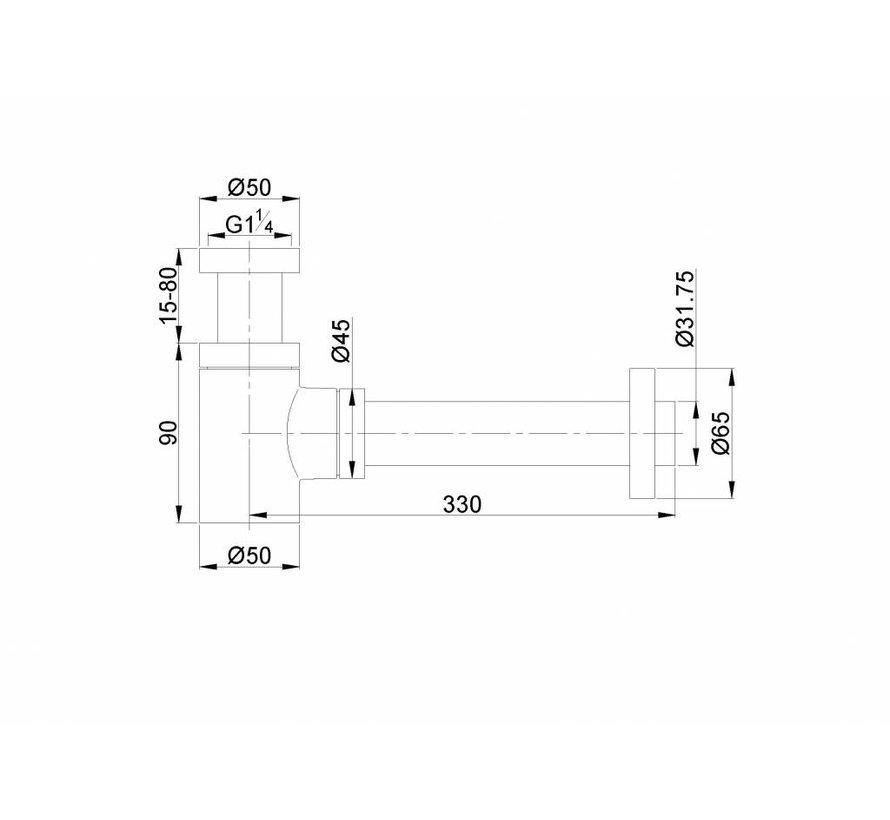 Caral design sifon laag model mat wit
