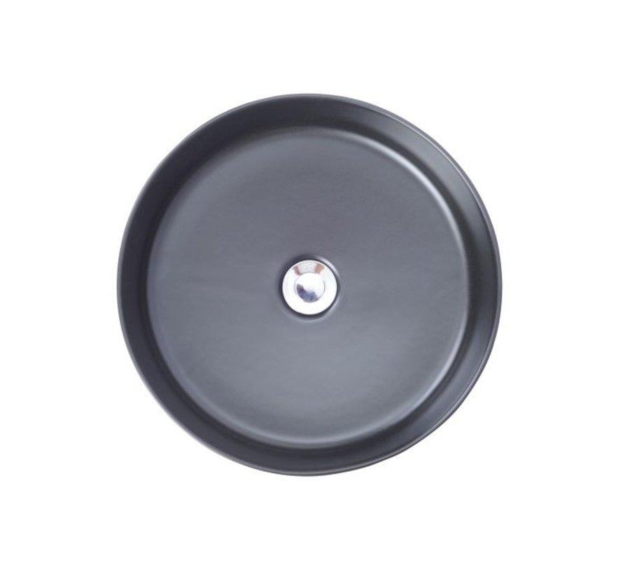 Link opzetwastafel rond 400x145 zwart