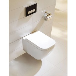 Randloze Wand-wc Soft Close vierkant