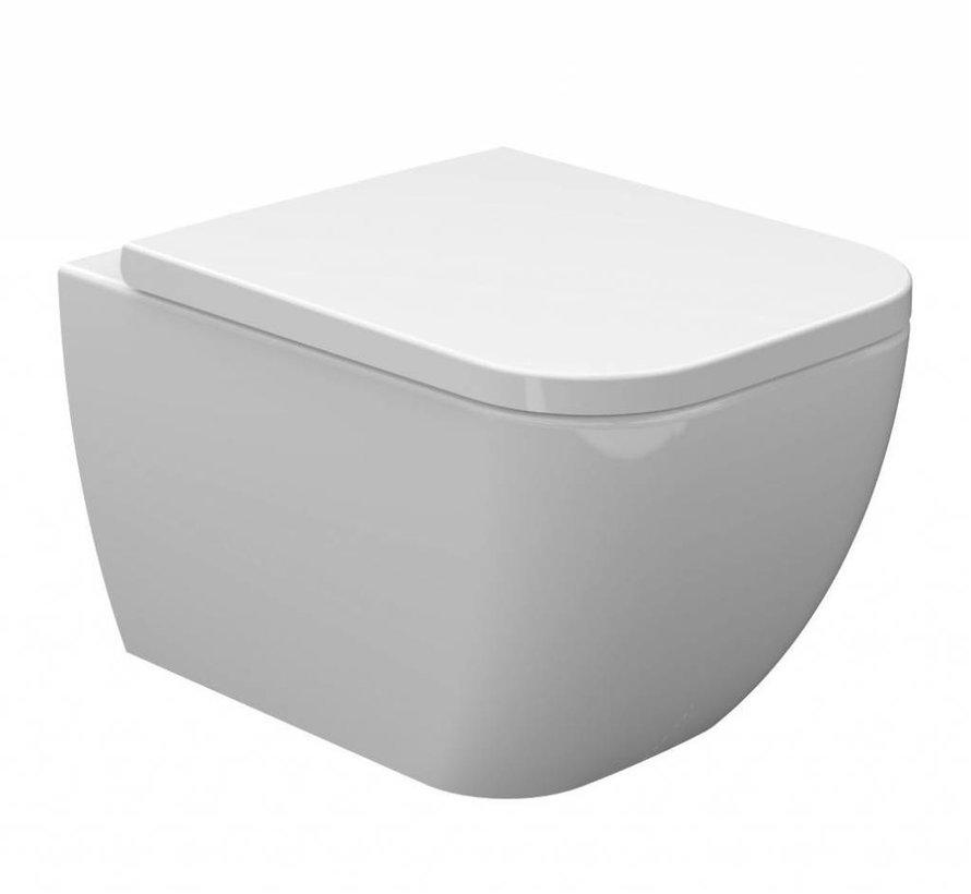 Randloze Wand-wc Soft Close vierkant