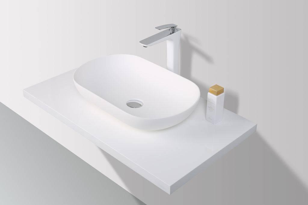 Inloopdouche Met Opzetwastafel : Rheiner design opzetwastafel solid surface cm