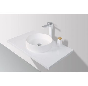 Rheiner Opzetwastafel Solid Surface 38 x 38 x 11 cm - rond