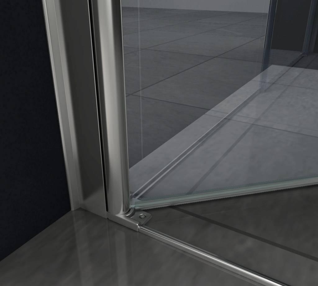 Glazen Douchedeur 100 Cm.Rheiner Swing Douchedeur Pendeldeur 100x195 Cm Helder Glas