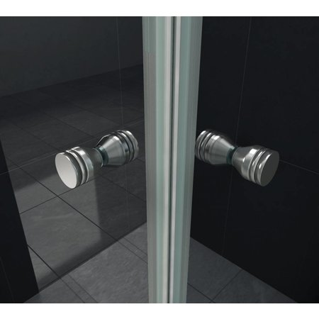 Douchecabine CLIP 80x80x180 cm met pendeldeuren