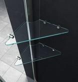 Douchecabine STALIS-PENTA 90x90x195 cm vijfhoek met twee glazen legplanken
