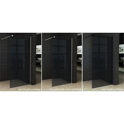 Wiesbaden Slim inloopdouche rookglas 110x200