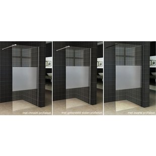 Wiesbaden Slim inloopdouche gedeeltelijk matglas 120x200