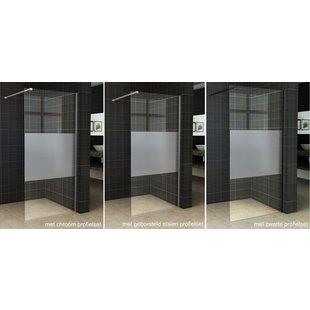 Wiesbaden Slim inloopdouche gedeeltelijk matglas 110x200