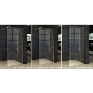 Wiesbaden Slim inloopdouche helder glas 95x200