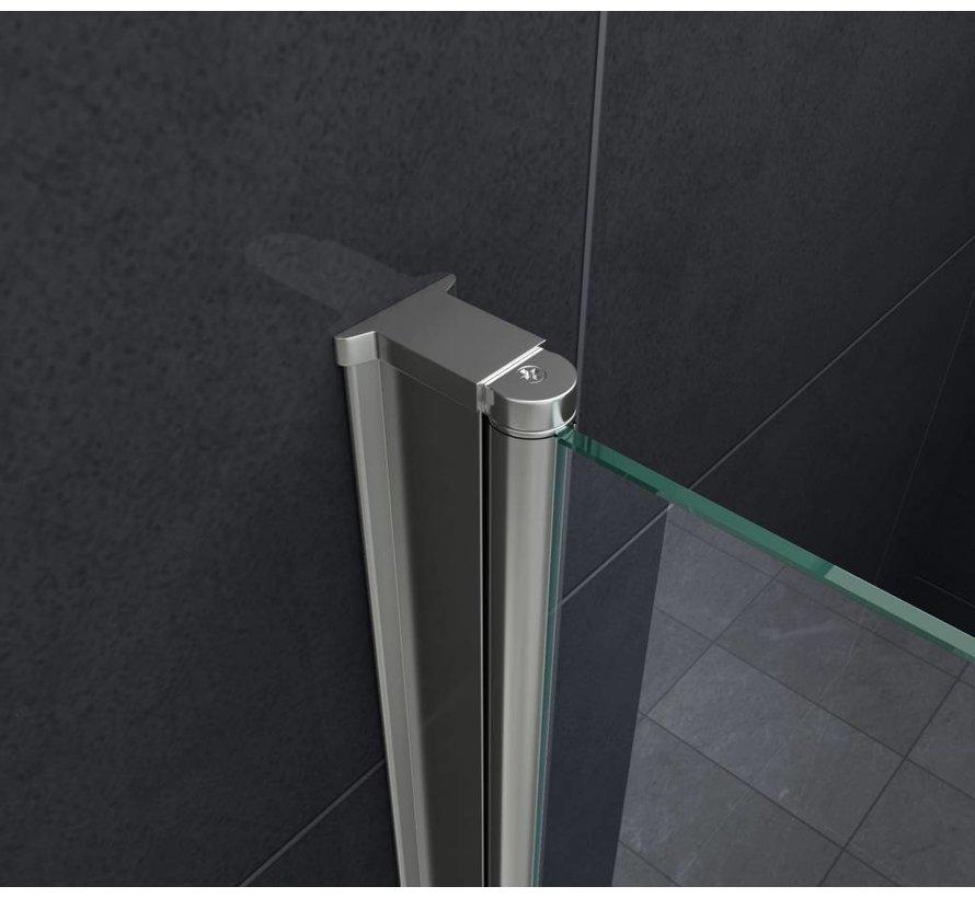 Accor vouwbare douchedeur nisdeur 80x195 cm helder glas